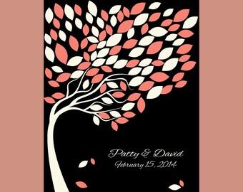 Signature Tree Print, Wedding Guest Book Alternative, Wedding Tree with 100 Leaves, SIGNATURE WEDDING TREE, Guestbook Wedding Tree