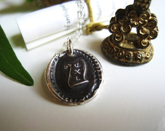 You Excel Wax Seal Necklace