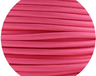 Fabric Textile cable wire for Lighting Round 2x0.75 in Pink