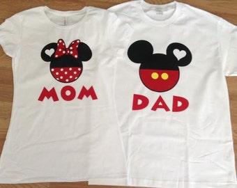Mickey And Minnie Couples Shirts Handmade mickey...