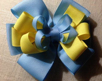 Yellow & Blue Bow