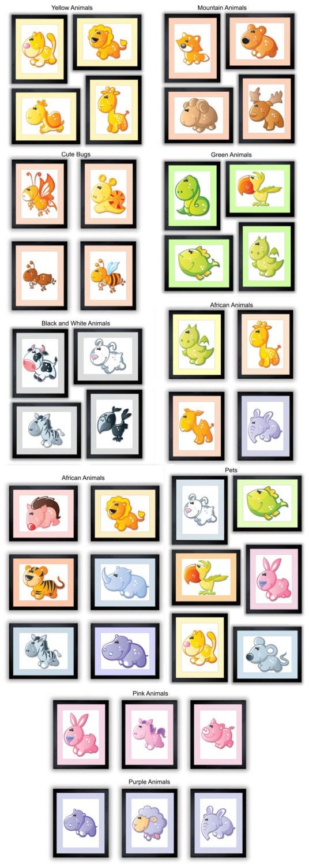 Nursery Animals Mix and Match Kids Art Nursery Art Nursery Print Baby Art Wall Art Decor Baby Room
