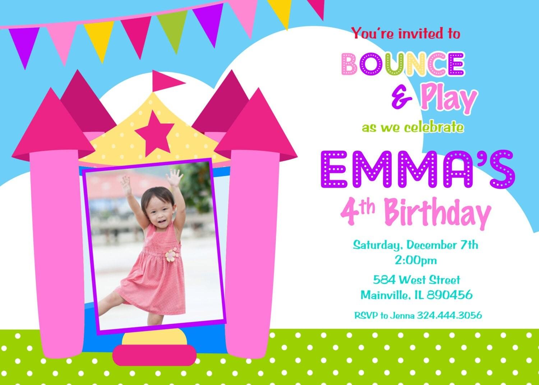bounce house birthday party invitation bouncy castle bounce house birthday party invitation bouncy castle bounce house inflatable jump 128270zoom