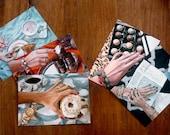 Postcard Set of 5 // Frau Süß Series // Food Art // Cynthia Katz