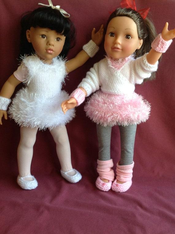 Dolls Fashion Clothes Knitting pattern. 18 doll. Gotz