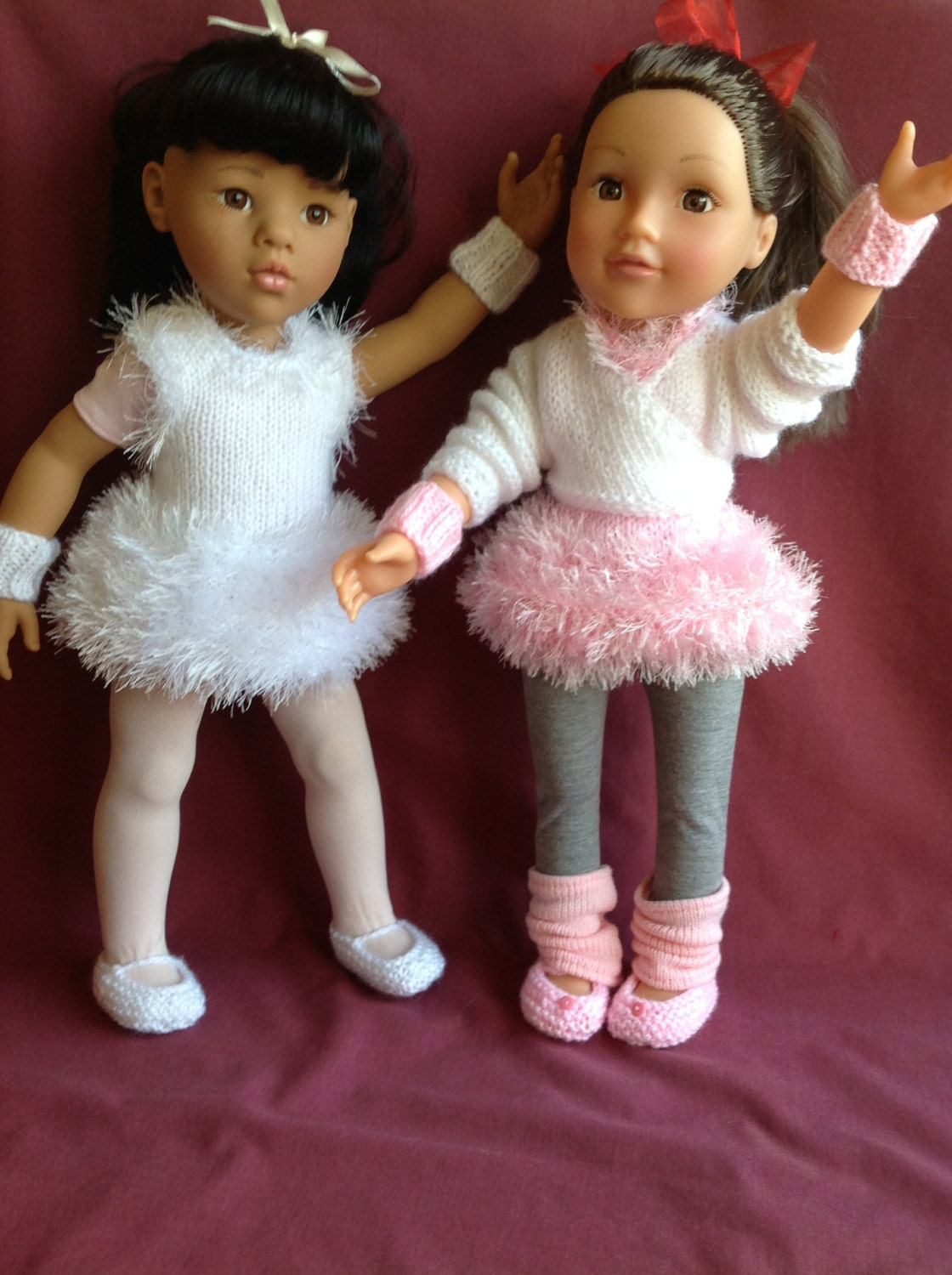 Free Knitting Patterns Toys Dolls Clothes : Dolls Fashion Clothes Knitting pattern. 18 doll. Gotz