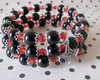 Black & Red Wrap Bracelet