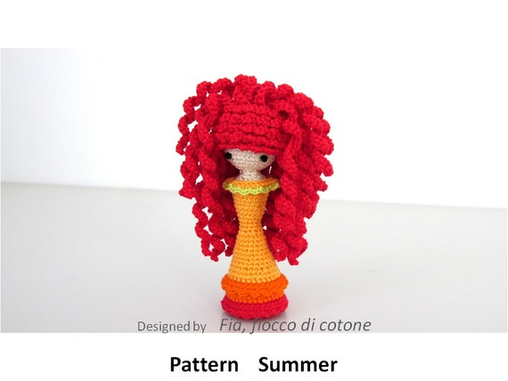 Pattern Summer, miniature doll amigurumi crochet, princess ...