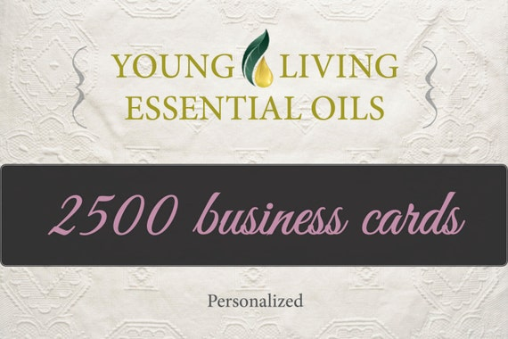 2500 personalized young living business cards by ArielLinville