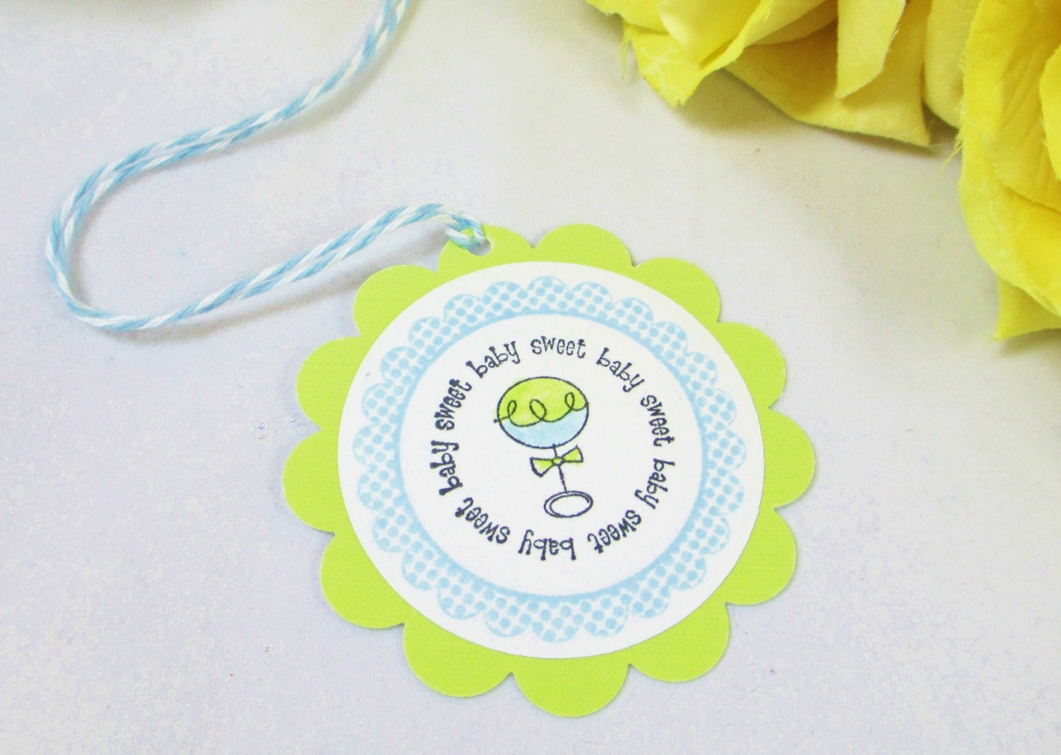 Baby Boy Gift Tags : Baby tags boy shower favor gift