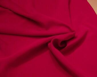 "Fuschia color Peachskin fabric; 60"" Polyester peachskin; Priced per yard"