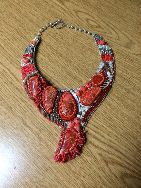 Items similar to sold bead embroidery collar on etsy