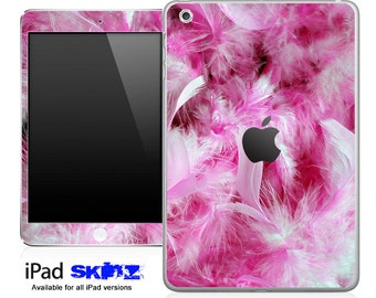 Pink Feathers Skin for the iPad Mini, iPad 1st, 2nd, 3rd or 4th Generation