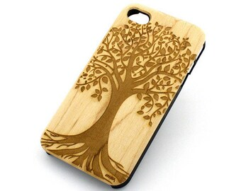 W120 Wood Case for Apple Iphone 5C - Tree Of Life