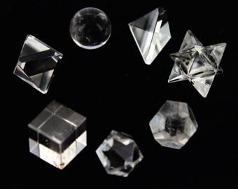Crystal Quartz Sacred Geometry Set 7 Pcs