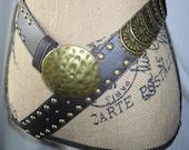 MEDIEVAL SPARTAN Rocker Boho Gypsy Antique BRONZE Hammered Buckle Interlocking Warrior Shield Belt