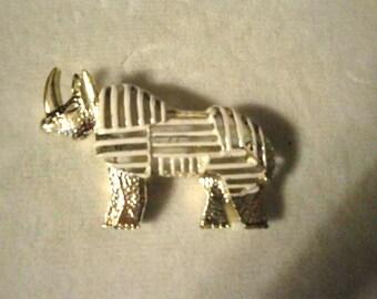 Vintage Coro Rhinoceros Brooch