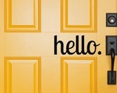 hello decal, hello door sign, hello door decal, door decal, outdoor door decor, curb appeal, welcome decal, welcome door sign, outdoor decor