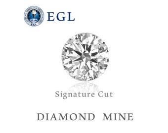1 Carat F VVS2 EGL Certified Round Brilliant Loose Diamond