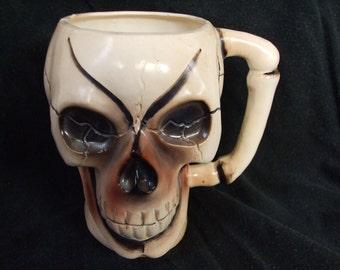 Vintage Skull Mug, Creepy Skull Cup