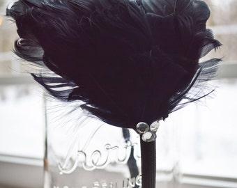 Feather & Rhinestone Headband
