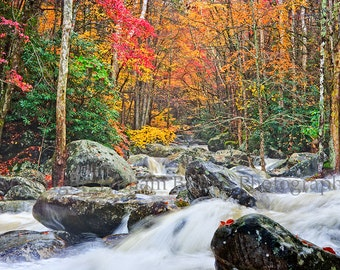 Smoky Mountains Digital Download Stock Photography Wild Whitewater - screen saver - computer wallpaper