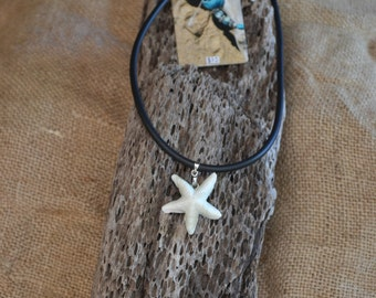 Starfish porcelain necklace