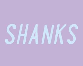 sarcastic thank you card - shanks