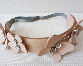 Leather Butterfly Headband