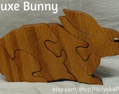 Bunny Deluxe Wooden 3D Puzzle in Oak