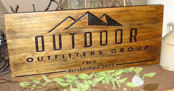 Carved wooden sign craft show displays business logos for How to display wood signs at craft show