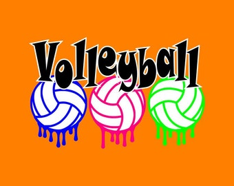 Paint Drip Volleyball ~ Volleyball shirt