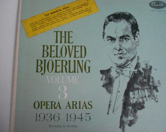 The Beloved Bjoerling - Volume 3 Opera Arias 1936 - 1945- vinyl record