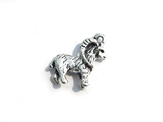 6 silver goat charms capricorn charm by jewelleryessentials