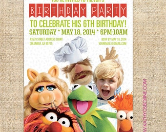 Printable Muppets Birthday Invitation Download for Boys and Girls - Printing Service available
