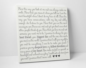 Wedding Vow Art, Custom Wedding Decor