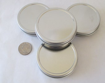 Round Screw top Tins - 2 oz  -Four Count - Salves, Herbs, Make-up, Jewelry--Other!