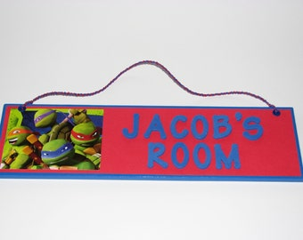 Teenage Mutant Ninja Turtles Personalized Room Decor Sign - TMNT