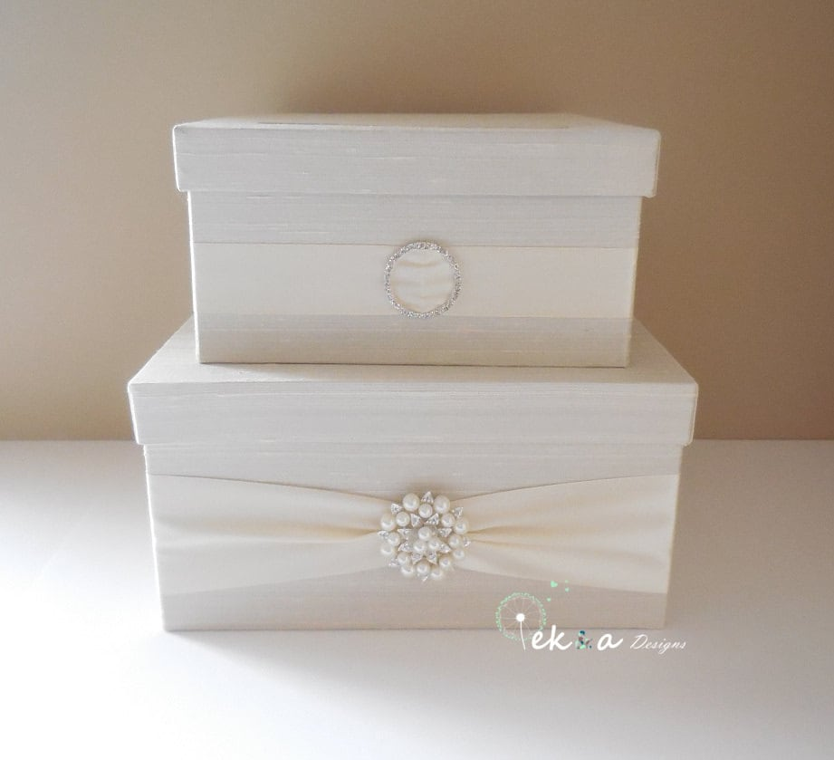 Wedding Gift Card Containers : Wedding gift card box / Wedding card box / wedding money box