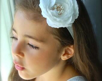 Talia headband - White