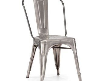 Set of 2 Gunmetal Dining Chairs