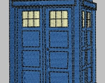 Tardis Machine Embroidery Pattern