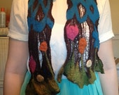 Nuno Felted Delicate Cheesecloth Scarf   Just Reduced!