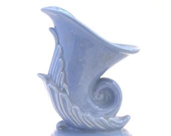 Niloak Cornucopia Shaped Blue Vase