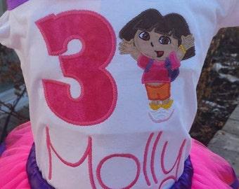 Dora shirt with headband