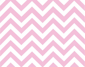 Pink chevron craft  vinyl sheet - HTV or Adhesive Vinyl -  light pink and white large zig zag pattern   HTV103