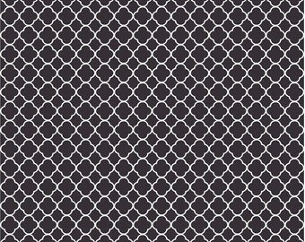 Black quatrefoil craft  vinyl sheet - HTV or Adhesive Vinyl -  black and white clover pattern vinyl HTV512