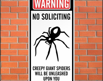 Warning no soliciting sign funny sign 12 x 24 - Funny soliciting signs ...