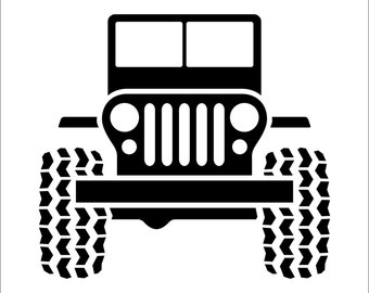 Jeep Decal Sticker Cherokee Wrangler Liberty Choice of Colors