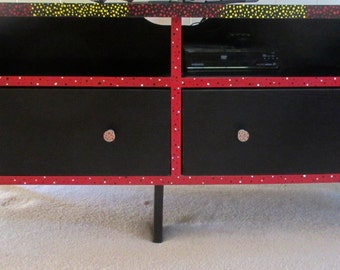 Hand Painted Fun Contemporary Coffee Table/TV Stand